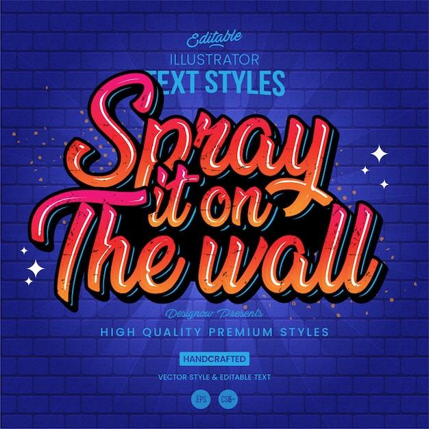 Graffiti-textstil Premium Vektoren