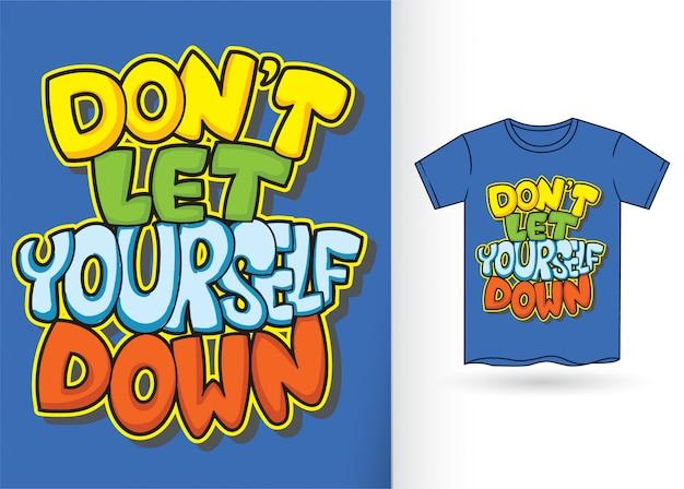 Graffiti-typografie für t-shirt Premium Vektoren