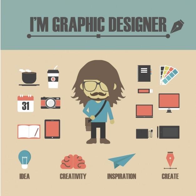 Grafik design elemente download der kostenlosen vektor for Grafik designer