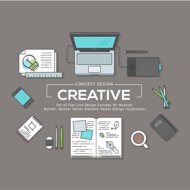 Grafik-Design-Elemente Kostenlose Vektoren
