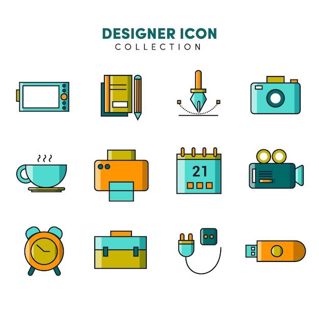 Grafik-designer-ikonen-sammlung Premium Vektoren