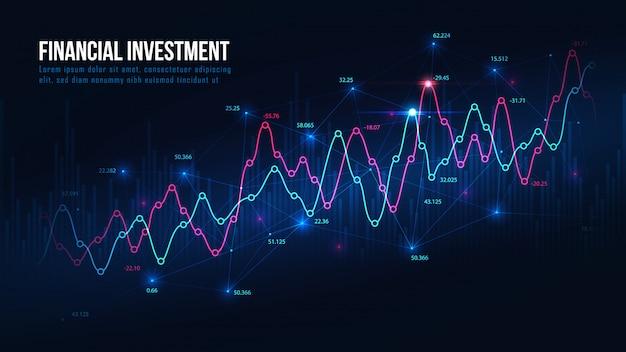 Grafik für den börsen- oder devisenhandel Premium Vektoren