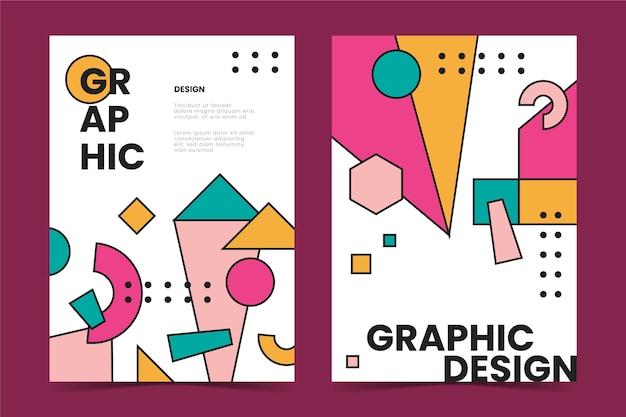 Grafikdesign-cover-kollektion Kostenlosen Vektoren
