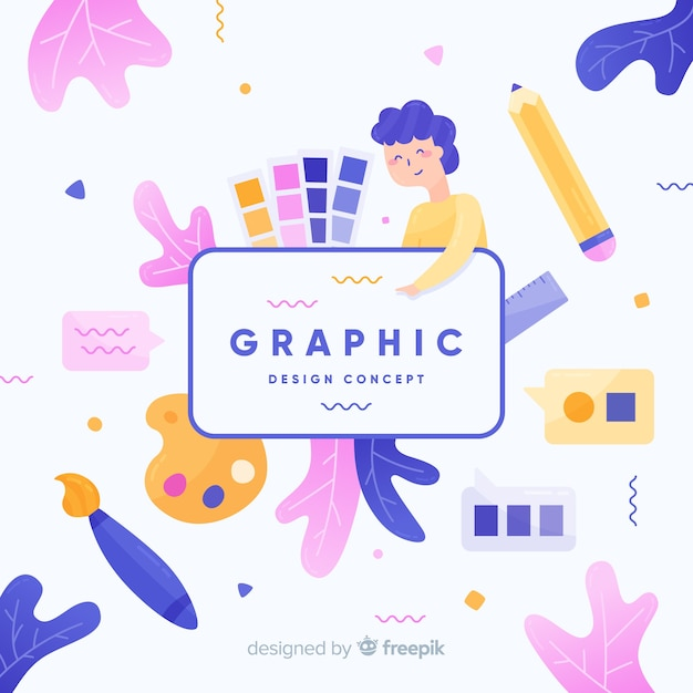 Grafikdesign idee konzept Kostenlosen Vektoren
