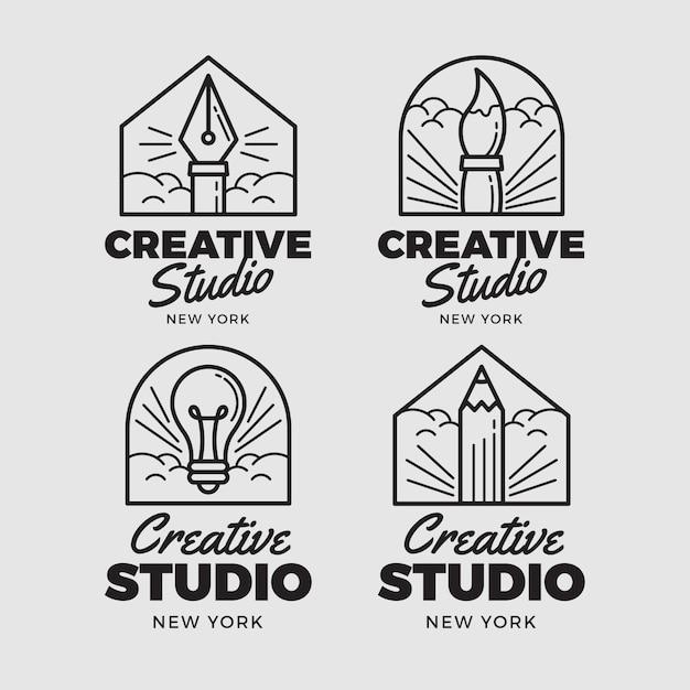 Grafikdesigner-logo-set Premium Vektoren