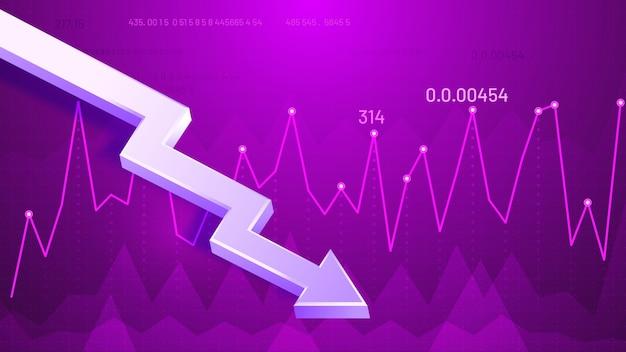 Grafikpfeil fallen lassen Kostenlosen Vektoren