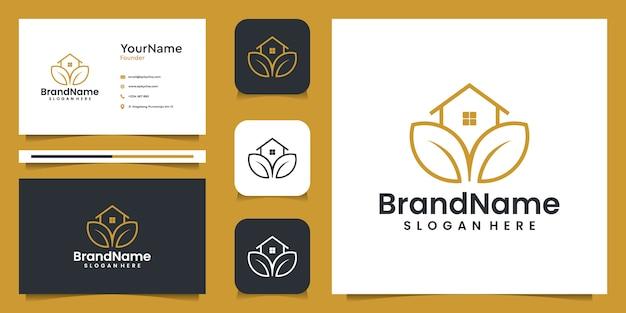 Grafisches logo der landwirtschaftshausillustration mit visitenkarte. gut für branding, persönlichen gebrauch, anzeigen und geschäftliche zwecke Premium Vektoren