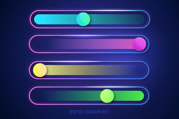 Grafisches schablonendesign der modernen info Premium Vektoren