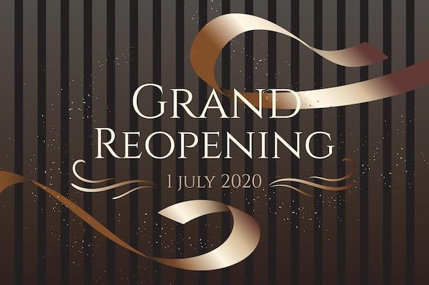 Grand wiedereröffnung hintergrunddesign Kostenlosen Vektoren
