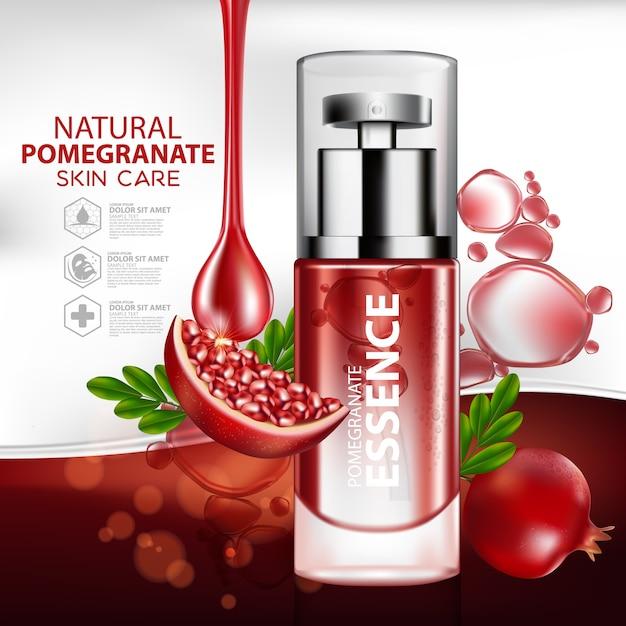 Grapefruit zitrusfrucht natürliche hautpflege kosmetische verpackung vorlage Premium Vektoren