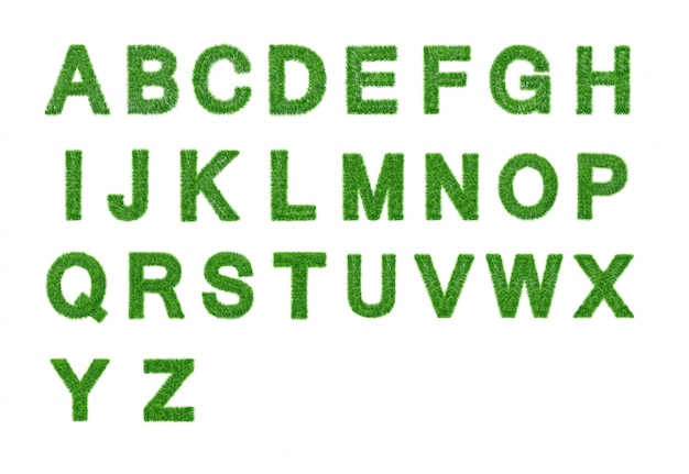 Gras briefsammlung. az isoliert. eco-symbol. Premium Vektoren