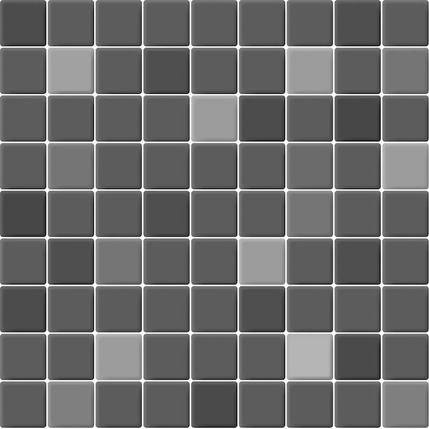Grau und schwarz die keramikmosaikfliesen wand hochauflösend. ziegel nahtlos und textur innen sauberen hintergrund. Premium Vektoren