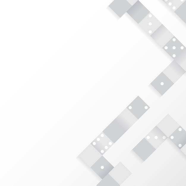 Graue blöcke auf leerem weißem hintergrundvektor Kostenlosen Vektoren