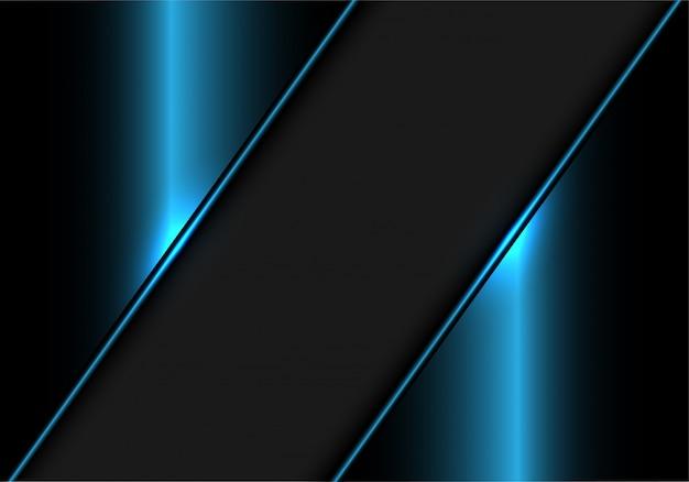 Graue fahne auf blauem metallischem modernem luxushintergrund. Premium Vektoren