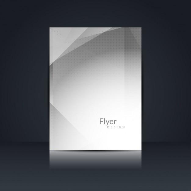 graue farbe polygon flyer design download der kostenlosen vektor. Black Bedroom Furniture Sets. Home Design Ideas