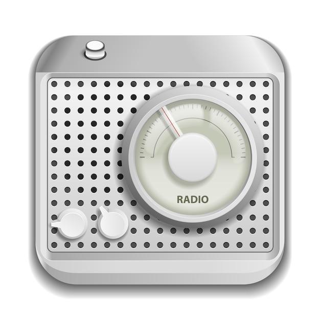 Graues radio isoliert Kostenlosen Vektoren