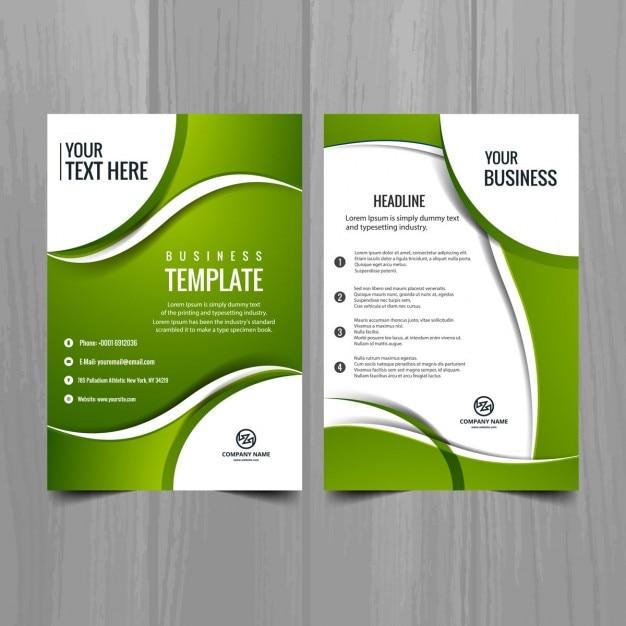 Green business-broschüre Kostenlosen Vektoren