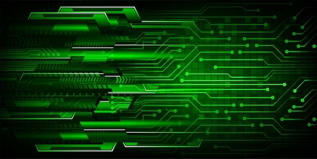 Green cyber circuit zukunftstechnologie hintergrund Premium Vektoren
