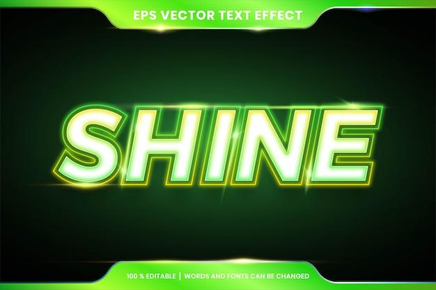 Green shine-texteffektstil kann bearbeitet werden Premium Vektoren