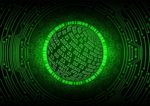 Green world cyber circuit zukunftstechnologie konzept hintergrund Premium Vektoren