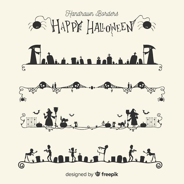 Grenzsammlung für Halloween | Download der kostenlosen Vektor