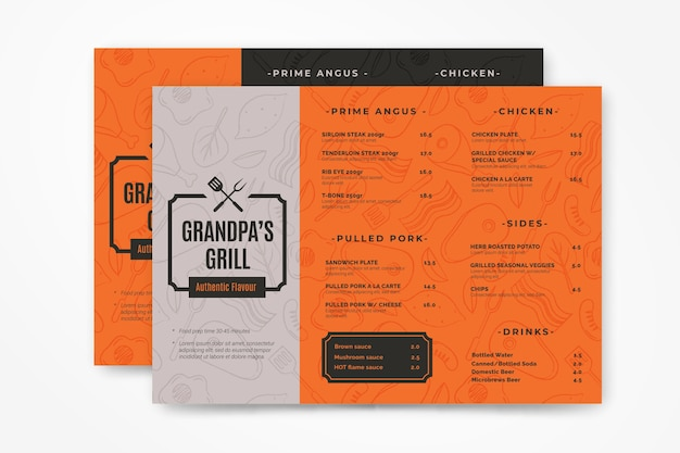 Grill menüvorlage Kostenlosen Vektoren