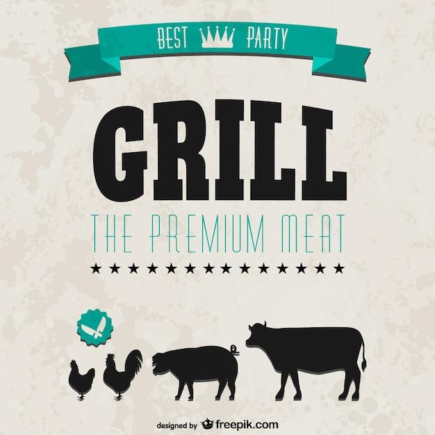 Grillparty Einladung Retro Stil Download Der Kostenlosen