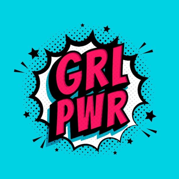 Grl pwr splash hintergrund Premium Vektoren