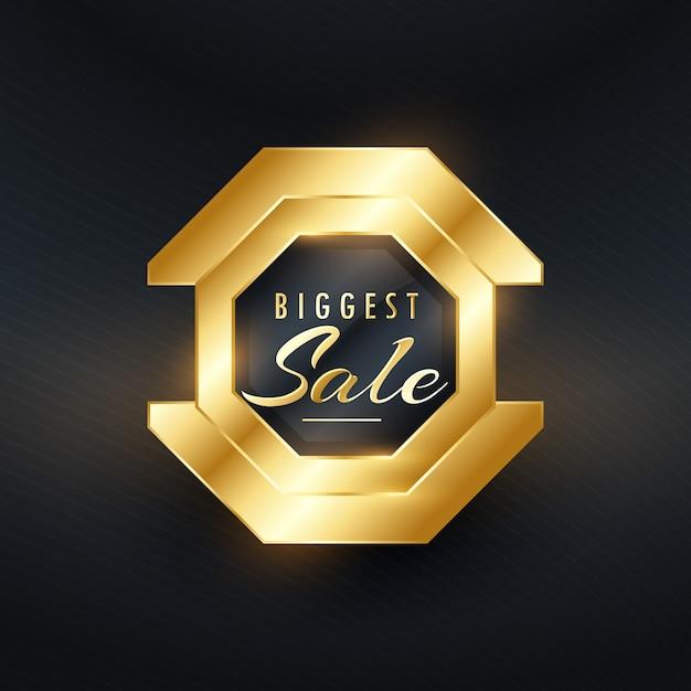 Größte verkauf premium goldene abzeichen und label-vektor-design Kostenlosen Vektoren