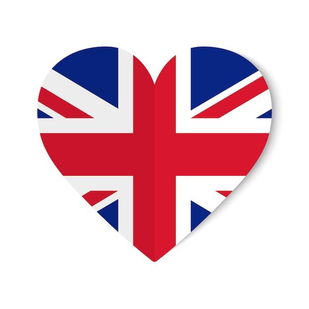 Großbritannien-flagge mit origamiart hören an Premium Vektoren