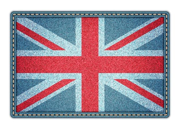 Große britische flagge Premium Vektoren