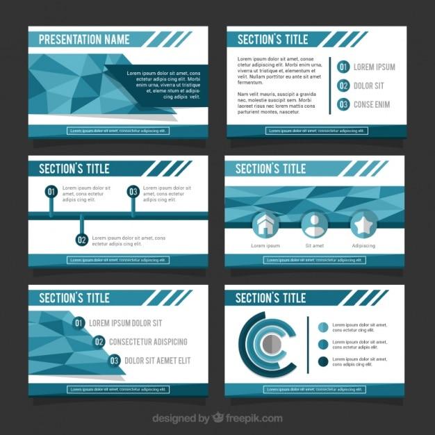 Große business-präsentation in den blauen tönen Kostenlosen Vektoren
