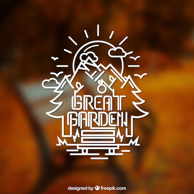 Grosse Garten Logo Download Der Kostenlosen Vektor