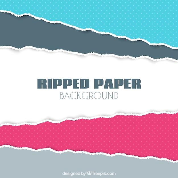 Große hintergrund der zerrissenes papier mit verschiedenen farben Kostenlosen Vektoren