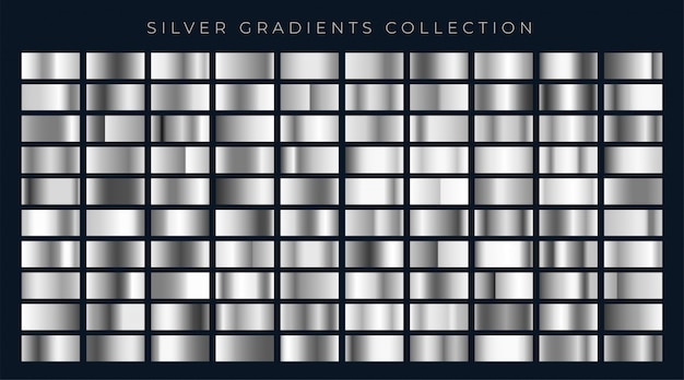 Große reihe von silber oder platin gradienten Kostenlosen Vektoren
