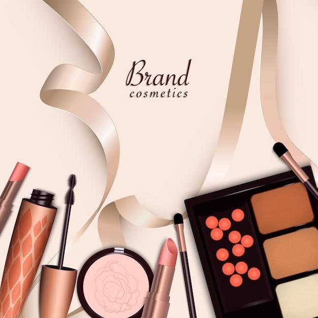 Große reihe von verschiedenen realistischen paketen für dekorative kosmetik. Premium Vektoren