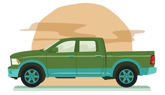 Großer allrad-pickup-truck Premium Vektoren