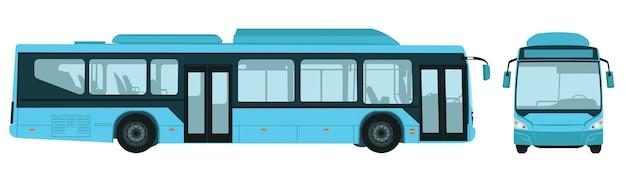 Großer elektrischer stadtbus Premium Vektoren