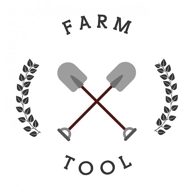 Großer verkauf von landwirtschaftlichen geräten Premium Vektoren