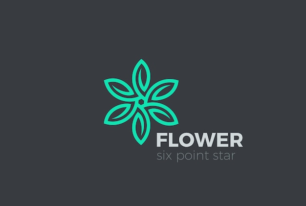 Grün hinterlässt logo-symbol. Kostenlosen Vektoren