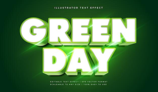 Grün leuchtender titeltextart-schriftart-effekt Premium Vektoren
