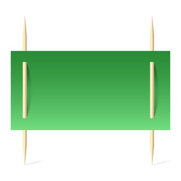 Grünbuch über zahnstocher Premium Vektoren