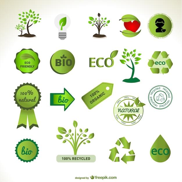 Grüne element vektor-material Kostenlosen Vektoren