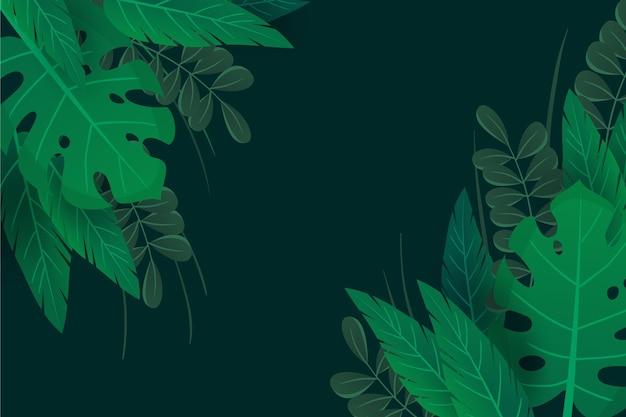 Grüne natürliche blätter zoomen hintergrund Kostenlosen Vektoren
