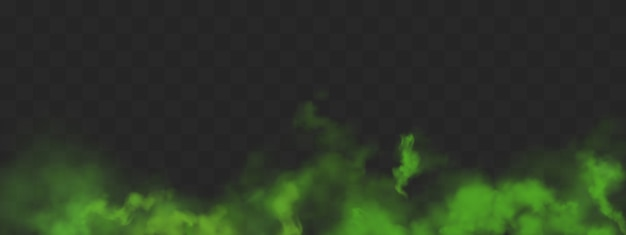 Grüne smogwolken mit schlechtem geruch oder giftigen dämpfen Kostenlosen Vektoren