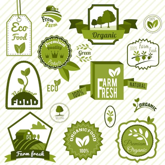 Grüne umweltzeichen Premium Vektoren