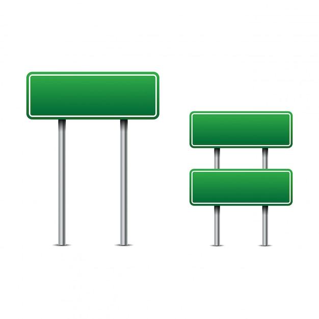 Grüne verkehrsschilder vektor Premium Vektoren