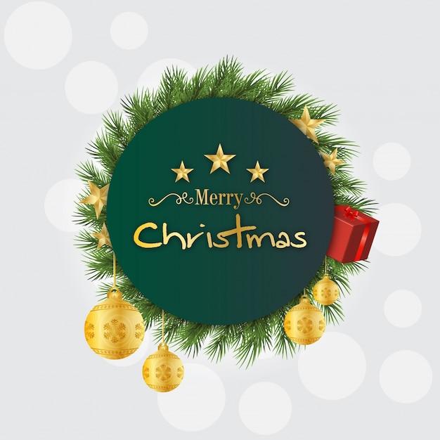 Weihnachtsgrüße Vorlage.Grüne Weihnachtsgrüße Vorlage Download Der Premium Vektor