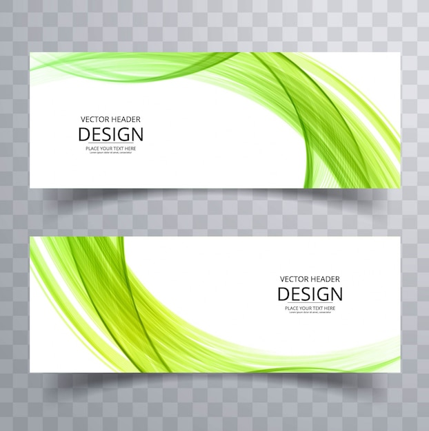 Grüne wellenförmige banner Kostenlosen Vektoren