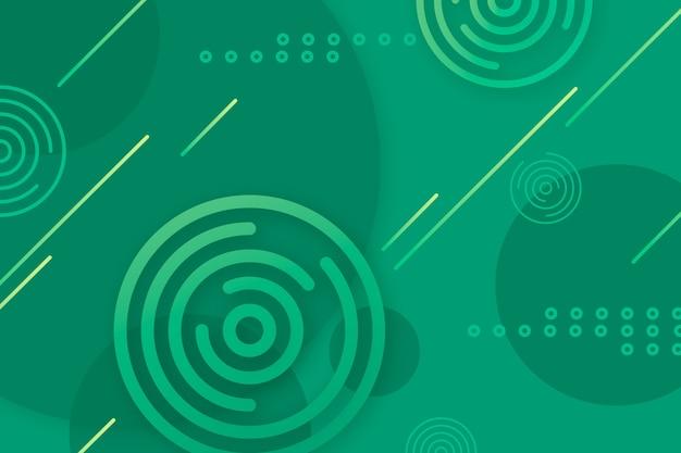 Grüner abstrakter geometrischer hintergrund Kostenlosen Vektoren